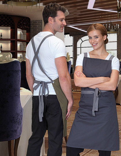 Apron with Grey Ties Crossover