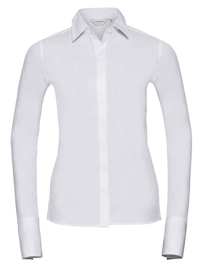 Ladies` Long Sleeve Fitted Ultimate Stretch Shirt