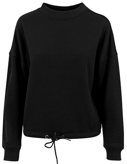 Ladies` Oversize Crewneck