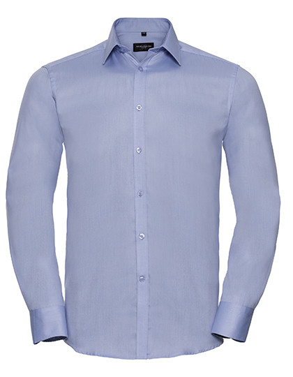 Men`s Long Sleeve Tailored Herringbone Shirt