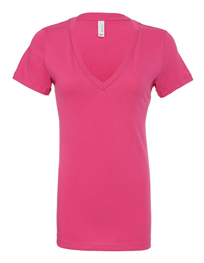 Women`s Jersey Deep V-Neck T-Shirt