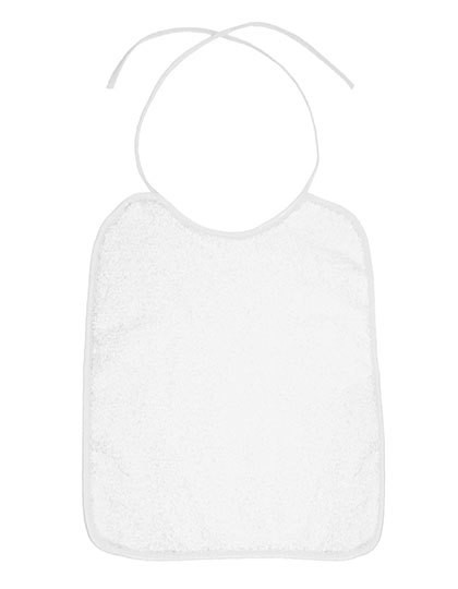 Piped Border Baby Bib Terry