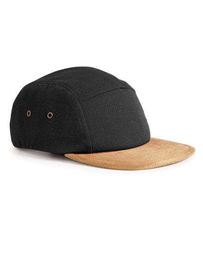 Suede Peak 5-Panel Cap